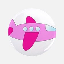 "Pink Airplane 3.5"" Button"