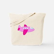 Pink Airplane Tote Bag