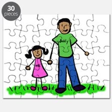 Father and Daughter (Black Hair) Puzzle