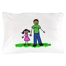 Father and Daughter (Black Hair) Pillow Case