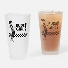 Ska RUDE GIRL Drinking Glass