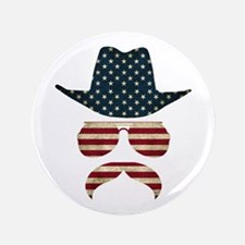"Patriostache 3.5"" Button"