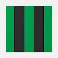 Green And Gray Stripes Queen Duvet