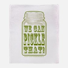 We Can Pickle That! Throw Blanket