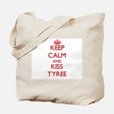 Keep Calm and Kiss Tyree Tote Bag