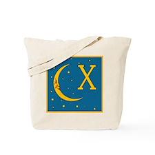 Monogram Moon and Stars Tote Bag