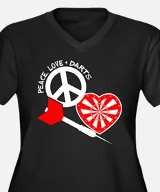 PEACE-LOVE-D Women's Plus Size V-Neck Dark T-Shirt