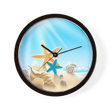 Summer Beach Wall Clock