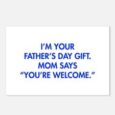 Im-your-fathers-day-gift-blue Postcards (Package o