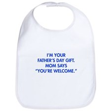 Im-your-fathers-day-gift-blue Bib