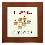 I Love Cupcakes Framed Tile
