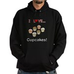 I Love Cupcakes Hoodie (dark)