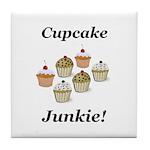 Cupcake Junkie Tile Coaster