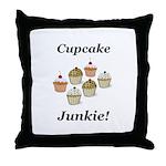 Cupcake Junkie Throw Pillow