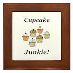 Cupcake Junkie Framed Tile