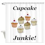 Cupcake Junkie Shower Curtain