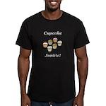 Cupcake Junkie Men's Fitted T-Shirt (dark)