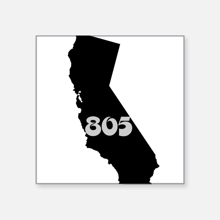 CALIFORNIA 805 [3 black/gray] Sticker