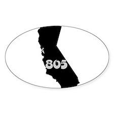 CALIFORNIA 805 [3 black/gray] Decal