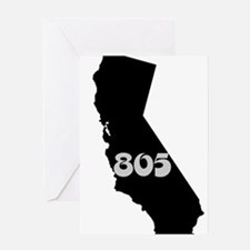 CALIFORNIA 805 [3 black/gray] Greeting Cards