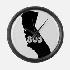 CALIFORNIA 805 [3 black/gray] Large Wall Clock