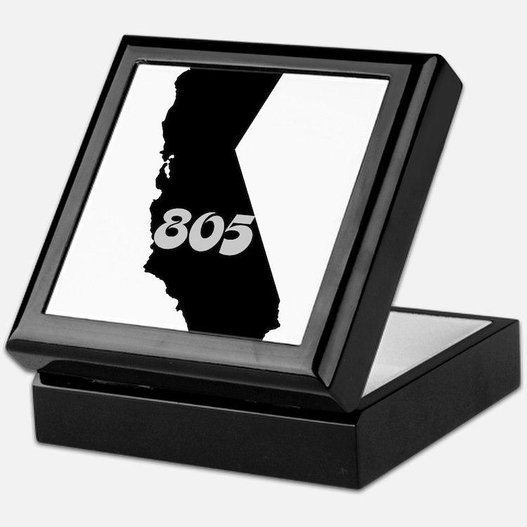 CALIFORNIA 805 [3 black/gray] Keepsake Box
