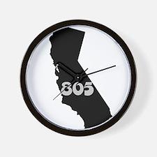 CALIFORNIA 805 [3 black/gray] Wall Clock