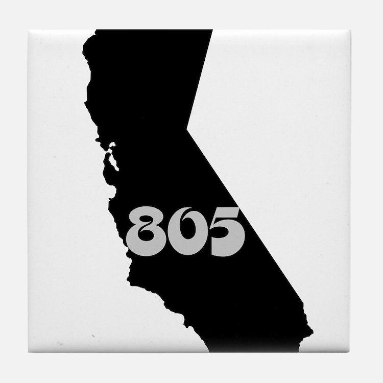 CALIFORNIA 805 [3 black/gray] Tile Coaster