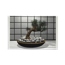 Bonsai Home Rectangle Magnet