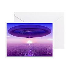 UFO At Sea Greeting Card
