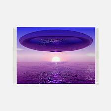 UFO At Sea Rectangle Magnet