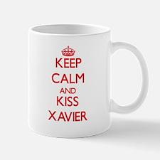 Keep Calm and Kiss Xavier Mugs