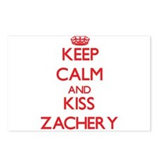 Keep Calm and Kiss Zachery Postcards (Package of 8