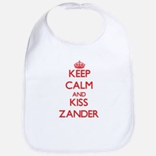 Keep Calm and Kiss Zander Bib