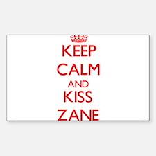 Keep Calm and Kiss Zane Decal