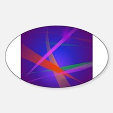 Purple Navy Crossing Colorful Lights 3 Decal
