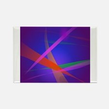 Purple Navy Crossing Colorful Lights 3 Magnets