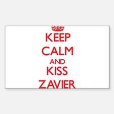 Keep Calm and Kiss Zavier Decal