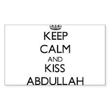 Keep Calm and Kiss Abdullah Decal