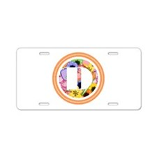 Floral Aluminum License Plate