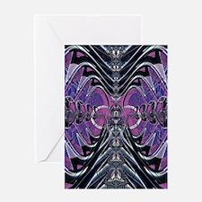 Purple Galaxy Greeting Cards