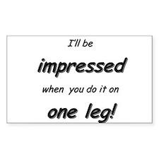 Impressed on one leg Decal