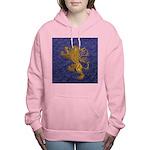 Rampant Lion - gold on blue Women's Hooded Sweatsh