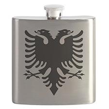 Albanian Eagle Black Flask