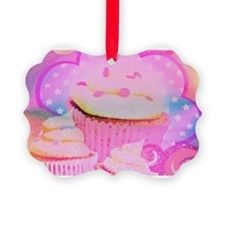 Cupcakes Covered in Sparkly Sugar Ornament