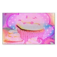 Cupcakes Covered in Sparkly Sugar Decal