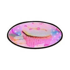 Cupcakes Covered in Sparkly Sugar Patches
