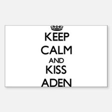 Keep Calm and Kiss Aden Decal