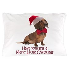 Santa Dachshund Pillow Case