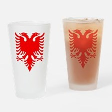 Albanian Eagle Red Drinking Glass